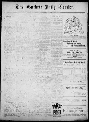 Primary view of object titled 'The Guthrie Daily Leader. (Guthrie, Okla.), Vol. 5, No. 157, Ed. 1, Thursday, June 6, 1895'.