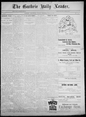 Primary view of object titled 'The Guthrie Daily Leader. (Guthrie, Okla.), Vol. 5, No. 158, Ed. 1, Friday, June 7, 1895'.
