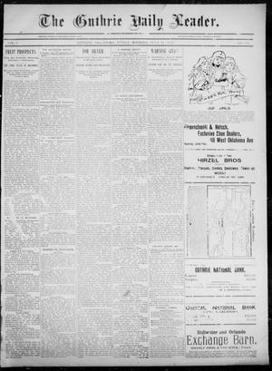 Primary view of object titled 'The Guthrie Daily Leader. (Guthrie, Okla.), Vol. 5, No. 164, Ed. 1, Friday, June 14, 1895'.