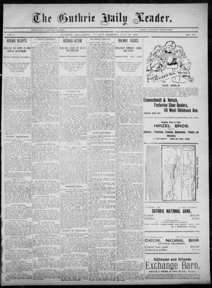 Primary view of object titled 'The Guthrie Daily Leader. (Guthrie, Okla.), Vol. 5, No. 167, Ed. 1, Tuesday, June 18, 1895'.