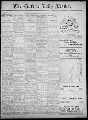 Primary view of object titled 'The Guthrie Daily Leader. (Guthrie, Okla.), Vol. 5, No. 168, Ed. 1, Wednesday, June 19, 1895'.