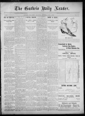 Primary view of object titled 'The Guthrie Daily Leader. (Guthrie, Okla.), Vol. 6, No. 24, Ed. 1, Thursday, July 4, 1895'.