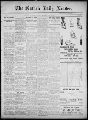Primary view of object titled 'The Guthrie Daily Leader. (Guthrie, Okla.), Vol. 6, No. 27, Ed. 1, Sunday, July 7, 1895'.