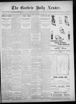 Primary view of object titled 'The Guthrie Daily Leader. (Guthrie, Okla.), Vol. 6, No. 34, Ed. 1, Tuesday, July 16, 1895'.
