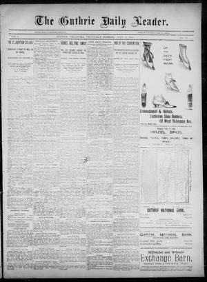Primary view of object titled 'The Guthrie Daily Leader. (Guthrie, Okla.), Vol. 6, No. 35, Ed. 1, Wednesday, July 17, 1895'.
