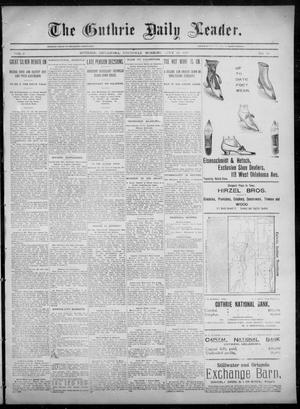 Primary view of object titled 'The Guthrie Daily Leader. (Guthrie, Okla.), Vol. 6, No. 36, Ed. 1, Thursday, July 18, 1895'.