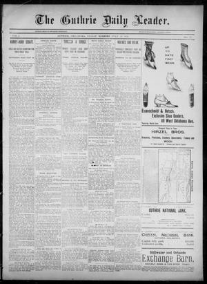 Primary view of object titled 'The Guthrie Daily Leader. (Guthrie, Okla.), Vol. 6, No. 37, Ed. 1, Friday, July 19, 1895'.