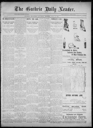Primary view of object titled 'The Guthrie Daily Leader. (Guthrie, Okla.), Vol. 6, No. 38, Ed. 1, Saturday, July 20, 1895'.
