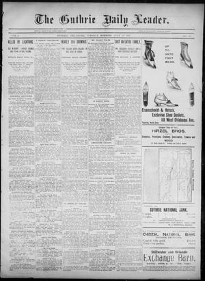 Primary view of object titled 'The Guthrie Daily Leader. (Guthrie, Okla.), Vol. 6, No. 40, Ed. 1, Tuesday, July 23, 1895'.