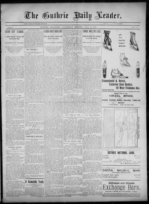 Primary view of object titled 'The Guthrie Daily Leader. (Guthrie, Okla.), Vol. 6, No. 41, Ed. 1, Wednesday, July 24, 1895'.