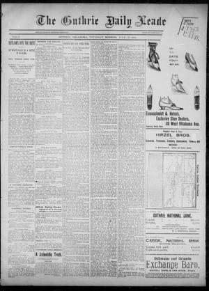 Primary view of object titled 'The Guthrie Daily Leader. (Guthrie, Okla.), Vol. 6, No. 42, Ed. 1, Thursday, July 25, 1895'.