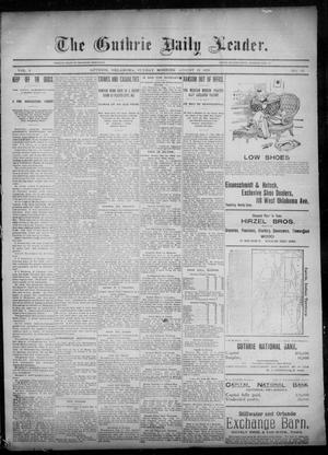 Primary view of object titled 'The Guthrie Daily Leader. (Guthrie, Okla.), Vol. 6, No. 62, Ed. 1, Sunday, August 18, 1895'.