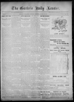 Primary view of object titled 'The Guthrie Daily Leader. (Guthrie, Okla.), Vol. 6, No. 69, Ed. 1, Tuesday, August 27, 1895'.