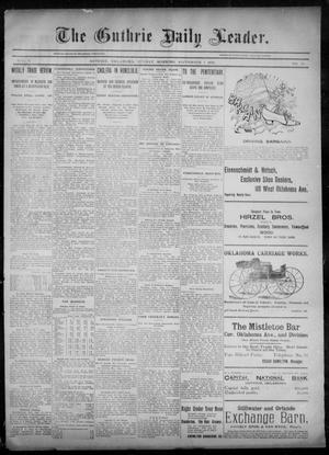 Primary view of object titled 'The Guthrie Daily Leader. (Guthrie, Okla.), Vol. 6, No. 74, Ed. 1, Sunday, September 1, 1895'.