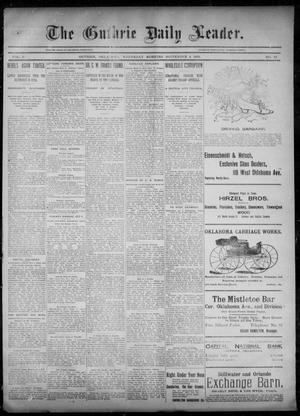 Primary view of object titled 'The Guthrie Daily Leader. (Guthrie, Okla.), Vol. 6, No. 75, Ed. 1, Wednesday, September 4, 1895'.