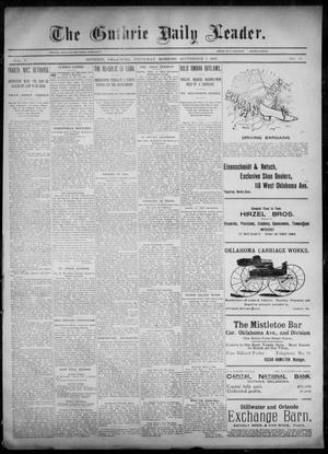 Primary view of object titled 'The Guthrie Daily Leader. (Guthrie, Okla.), Vol. 6, No. 76, Ed. 1, Thursday, September 5, 1895'.