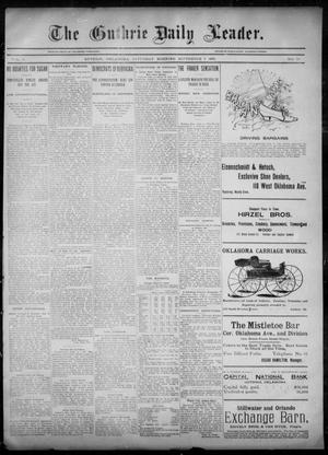 Primary view of object titled 'The Guthrie Daily Leader. (Guthrie, Okla.), Vol. 6, No. 78, Ed. 1, Saturday, September 7, 1895'.