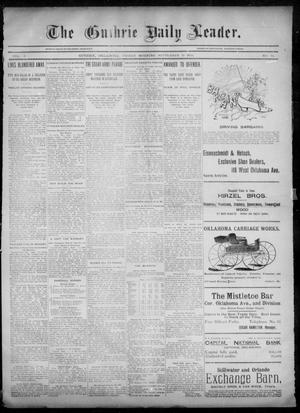 Primary view of object titled 'The Guthrie Daily Leader. (Guthrie, Okla.), Vol. 6, No. 84, Ed. 1, Friday, September 13, 1895'.