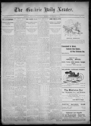 Primary view of object titled 'The Guthrie Daily Leader. (Guthrie, Okla.), Vol. 6, No. 85, Ed. 1, Saturday, September 14, 1895'.