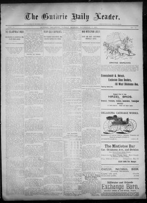 Primary view of object titled 'The Guthrie Daily Leader. (Guthrie, Okla.), Vol. 6, No. 86, Ed. 1, Sunday, September 15, 1895'.