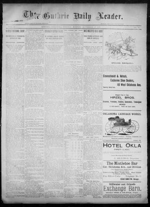Primary view of object titled 'The Guthrie Daily Leader. (Guthrie, Okla.), Vol. 6, No. 87, Ed. 1, Tuesday, September 17, 1895'.