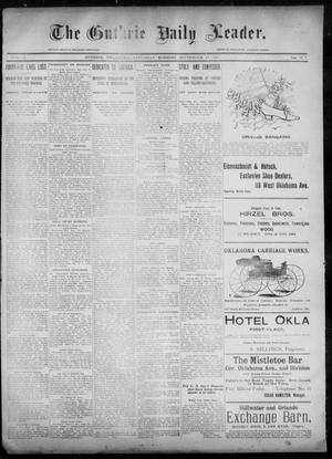 Primary view of object titled 'The Guthrie Daily Leader. (Guthrie, Okla.), Vol. 6, No. 91, Ed. 1, Saturday, September 21, 1895'.