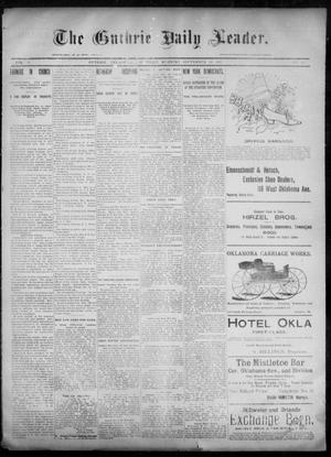 Primary view of object titled 'The Guthrie Daily Leader. (Guthrie, Okla.), Vol. 6, No. 95, Ed. 1, Thursday, September 26, 1895'.