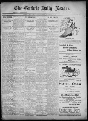 Primary view of object titled 'The Guthrie Daily Leader. (Guthrie, Okla.), Vol. 6, No. 96, Ed. 1, Friday, September 27, 1895'.