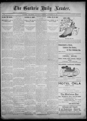Primary view of object titled 'The Guthrie Daily Leader. (Guthrie, Okla.), Vol. 6, No. 97, Ed. 1, Saturday, September 28, 1895'.