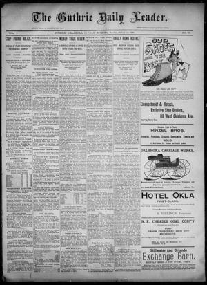 Primary view of object titled 'The Guthrie Daily Leader. (Guthrie, Okla.), Vol. 6, No. 98, Ed. 1, Sunday, September 29, 1895'.