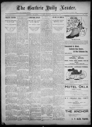 Primary view of object titled 'The Guthrie Daily Leader. (Guthrie, Okla.), Vol. 6, No. 99, Ed. 1, Tuesday, October 1, 1895'.