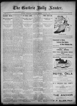 Primary view of object titled 'The Guthrie Daily Leader. (Guthrie, Okla.), Vol. 6, No. 101, Ed. 1, Thursday, October 3, 1895'.