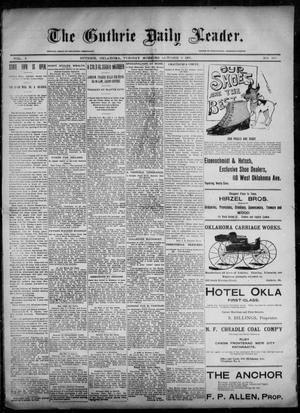 Primary view of object titled 'The Guthrie Daily Leader. (Guthrie, Okla.), Vol. 6, No. 105, Ed. 1, Tuesday, October 8, 1895'.
