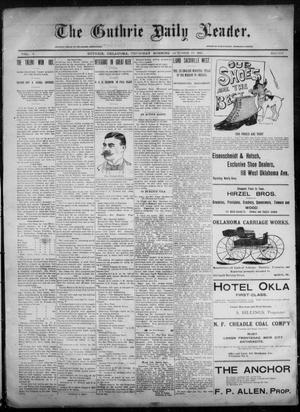 Primary view of object titled 'The Guthrie Daily Leader. (Guthrie, Okla.), Vol. 6, No. 107, Ed. 1, Thursday, October 10, 1895'.