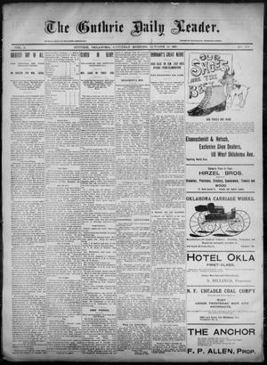 Primary view of object titled 'The Guthrie Daily Leader. (Guthrie, Okla.), Vol. 6, No. 109, Ed. 1, Saturday, October 12, 1895'.