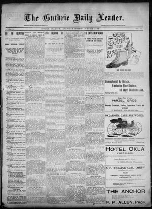 Primary view of object titled 'The Guthrie Daily Leader. (Guthrie, Okla.), Vol. 6, No. 113, Ed. 1, Thursday, October 17, 1895'.
