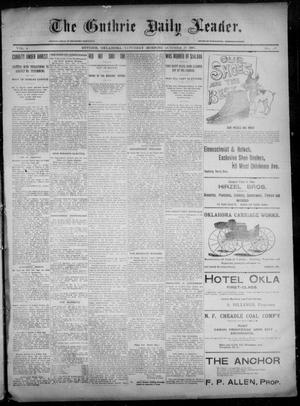 Primary view of object titled 'The Guthrie Daily Leader. (Guthrie, Okla.), Vol. 6, No. 115, Ed. 1, Saturday, October 19, 1895'.