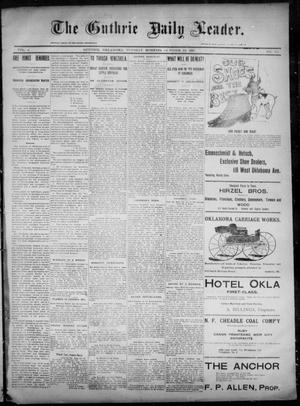 Primary view of object titled 'The Guthrie Daily Leader. (Guthrie, Okla.), Vol. 6, No. 117, Ed. 1, Tuesday, October 22, 1895'.