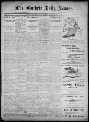 Primary view of object titled 'The Guthrie Daily Leader. (Guthrie, Okla.), Vol. 6, No. 120, Ed. 1, Friday, October 25, 1895'.