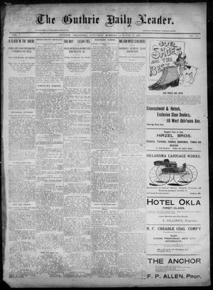 Primary view of object titled 'The Guthrie Daily Leader. (Guthrie, Okla.), Vol. 6, No. 121, Ed. 1, Saturday, October 26, 1895'.