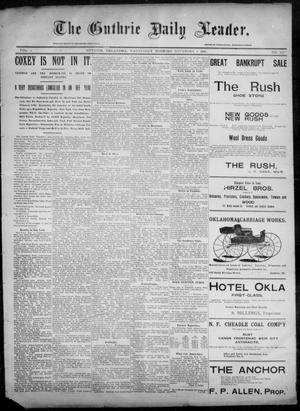 Primary view of object titled 'The Guthrie Daily Leader. (Guthrie, Okla.), Vol. 6, No. 130, Ed. 1, Wednesday, November 6, 1895'.