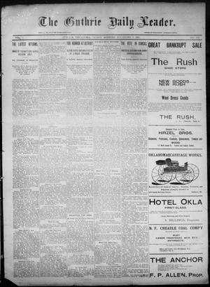 Primary view of object titled 'The Guthrie Daily Leader. (Guthrie, Okla.), Vol. 6, No. 132, Ed. 1, Friday, November 8, 1895'.