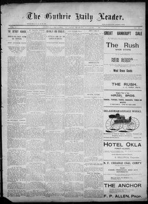 Primary view of object titled 'The Guthrie Daily Leader. (Guthrie, Okla.), Vol. 6, No. 133, Ed. 1, Saturday, November 9, 1895'.
