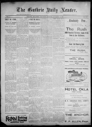 Primary view of object titled 'The Guthrie Daily Leader. (Guthrie, Okla.), Vol. 6, No. 137, Ed. 1, Thursday, November 14, 1895'.