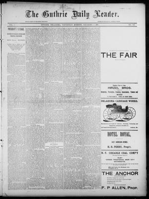 Primary view of object titled 'The Guthrie Daily Leader. (Guthrie, Okla.), Vol. 6, No. 152, Ed. 1, Wednesday, December 4, 1895'.