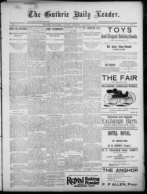 Primary view of object titled 'The Guthrie Daily Leader. (Guthrie, Okla.), Vol. 7, No. 1, Ed. 1, Tuesday, December 10, 1895'.