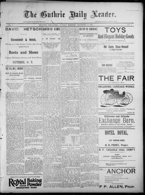 Primary view of object titled 'The Guthrie Daily Leader. (Guthrie, Okla.), Vol. 7, No. 6, Ed. 1, Sunday, December 15, 1895'.