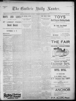 Primary view of object titled 'The Guthrie Daily Leader. (Guthrie, Okla.), Vol. 7, No. 12, Ed. 1, Sunday, December 22, 1895'.