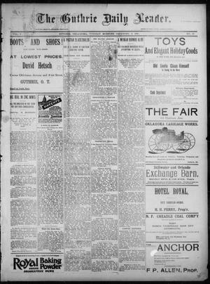 Primary view of object titled 'The Guthrie Daily Leader. (Guthrie, Okla.), Vol. 7, No. 18, Ed. 1, Tuesday, December 31, 1895'.