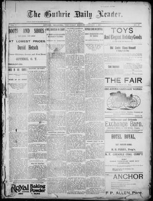 Primary view of object titled 'The Guthrie Daily Leader. (Guthrie, Okla.), Vol. 7, No. 19, Ed. 1, Wednesday, January 1, 1896'.